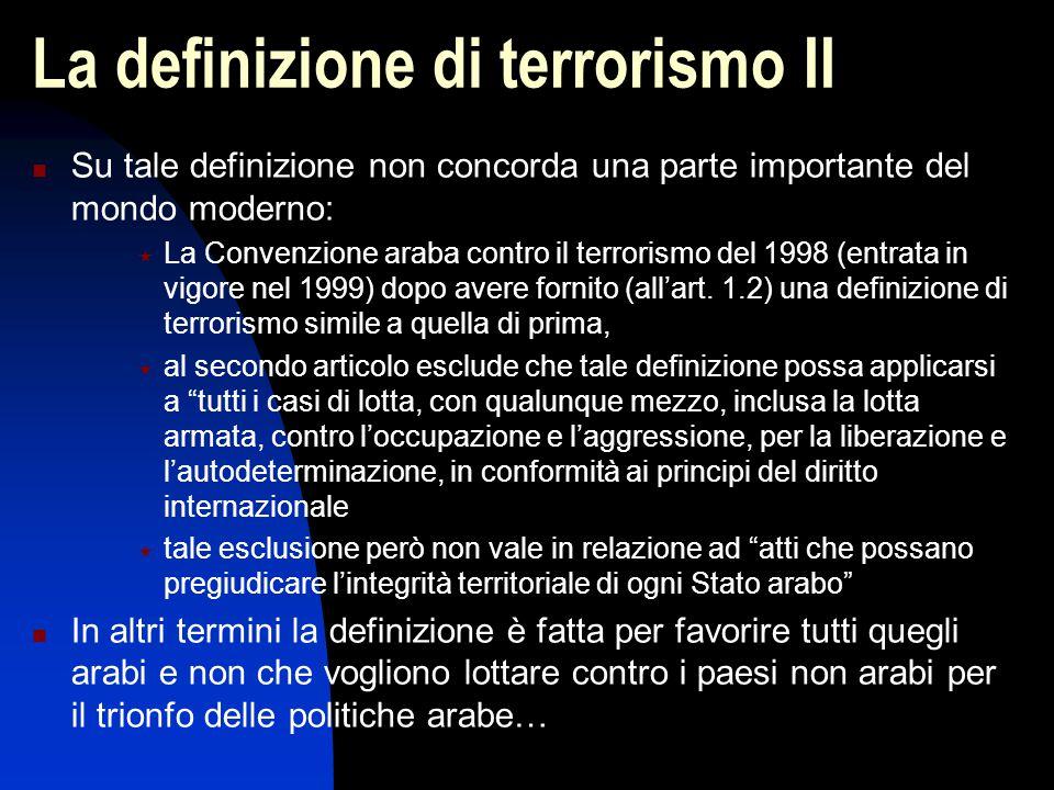 La definizione di terrorismo II
