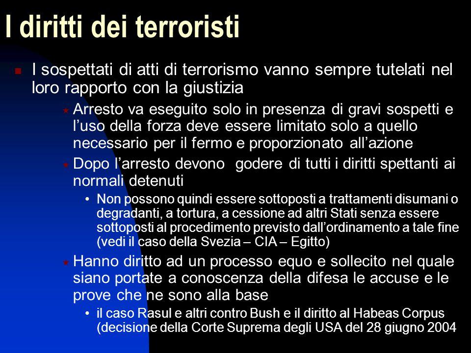 I diritti dei terroristi