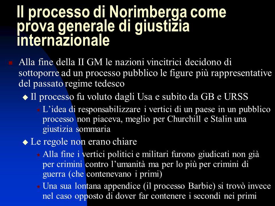 Il processo di Norimberga come prova generale di giustizia internazionale