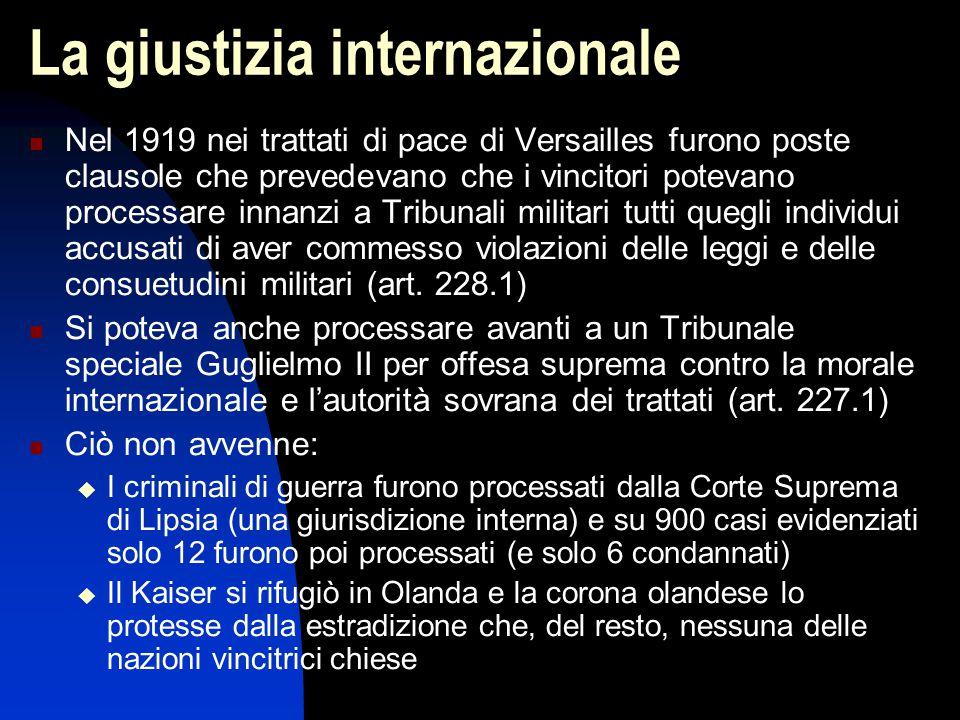 La giustizia internazionale