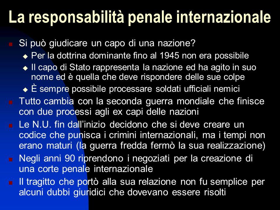 La responsabilità penale internazionale