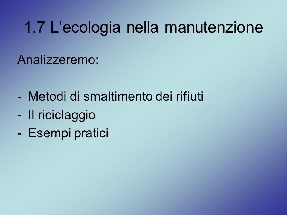1.7 L'ecologia nella manutenzione