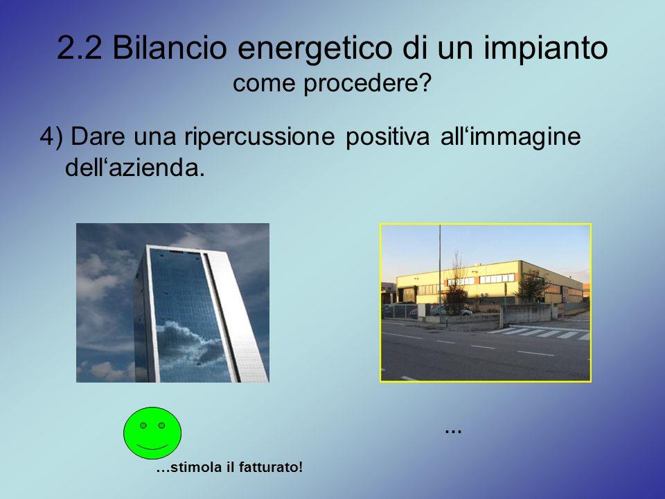 2.2 Bilancio energetico di un impianto come procedere