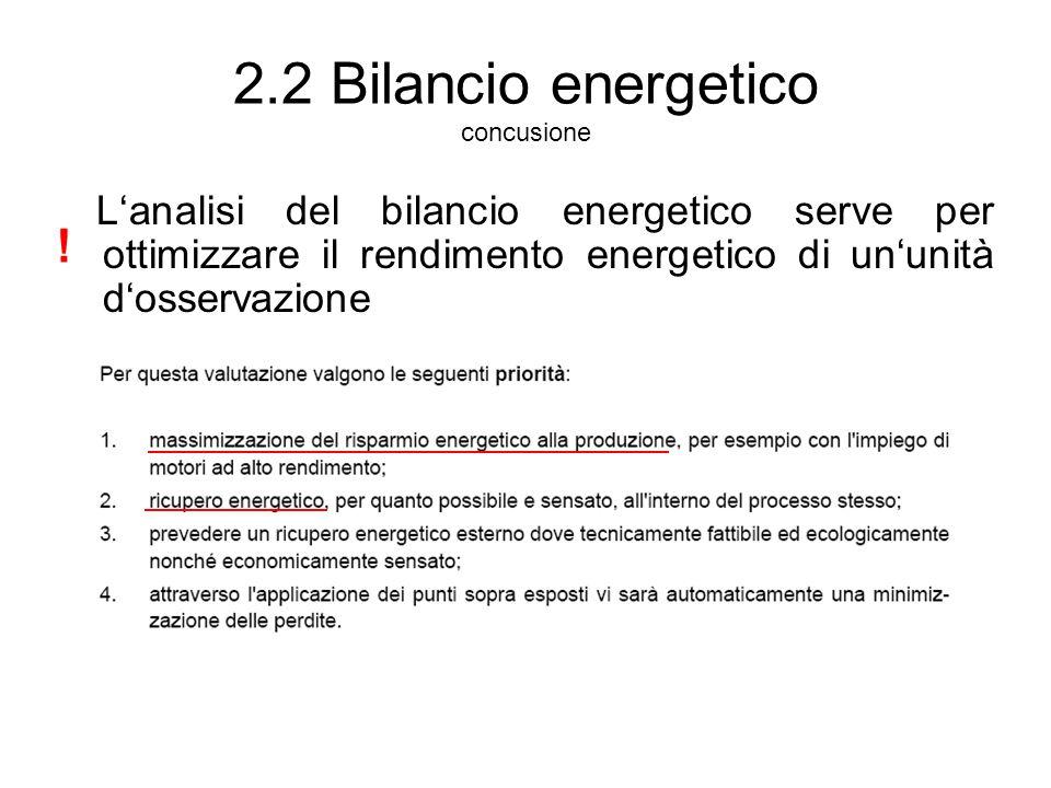 2.2 Bilancio energetico concusione