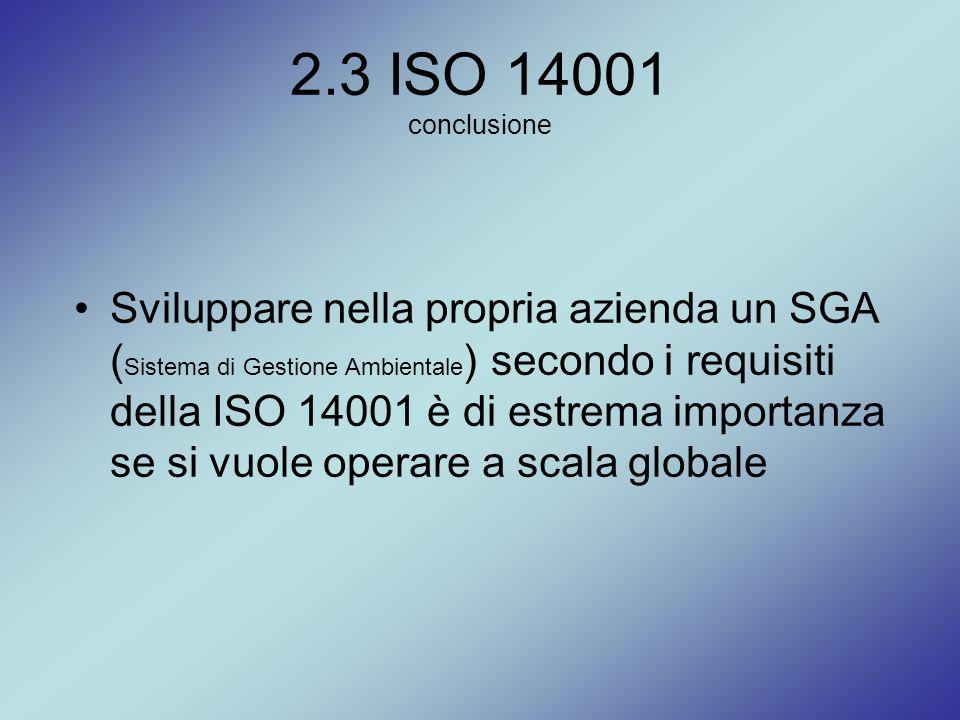 2.3 ISO 14001 conclusione