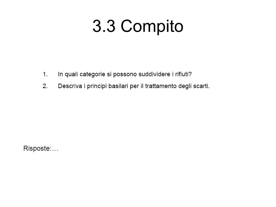 3.3 Compito Risposte:…