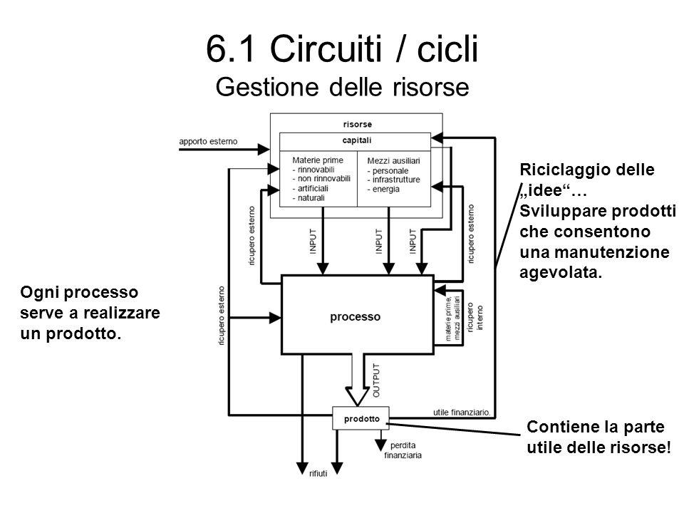 6.1 Circuiti / cicli Gestione delle risorse