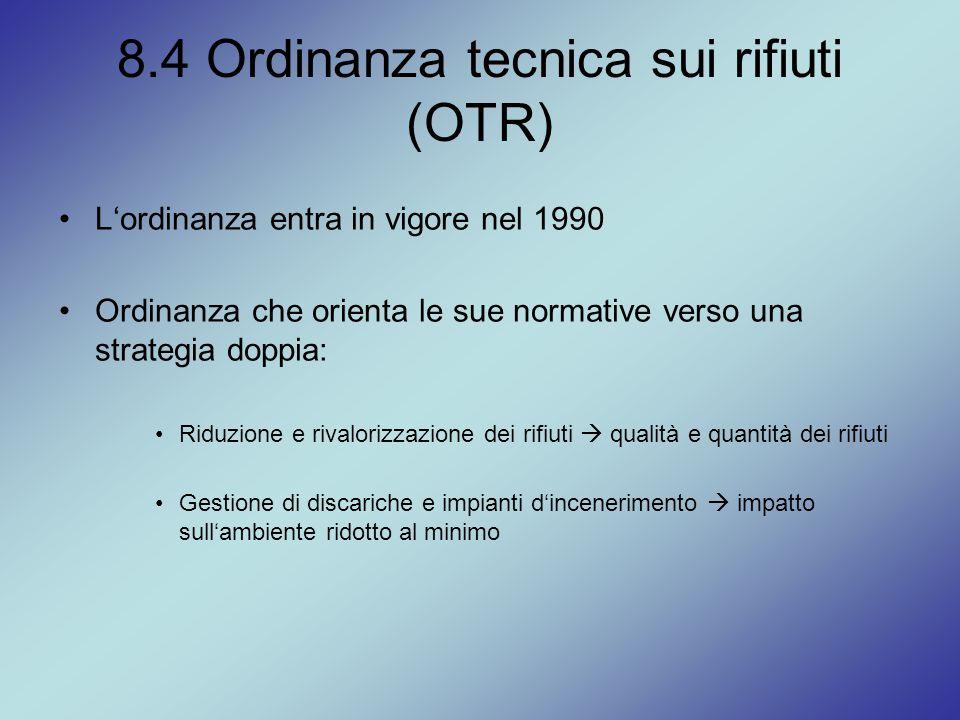 8.4 Ordinanza tecnica sui rifiuti (OTR)