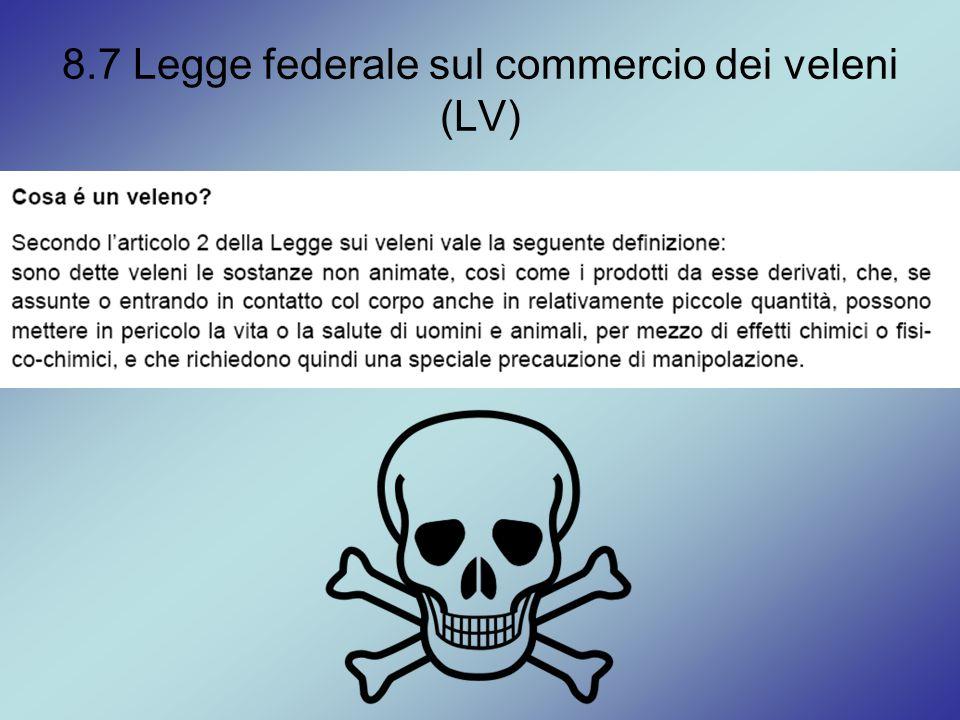 8.7 Legge federale sul commercio dei veleni (LV)