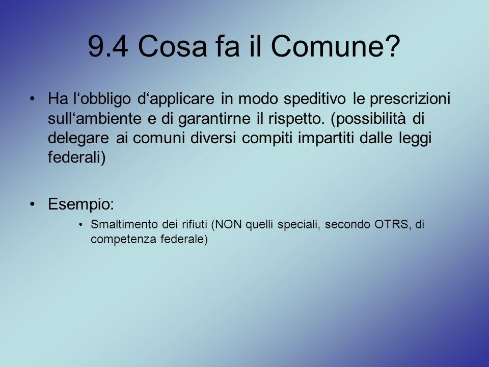 9.4 Cosa fa il Comune