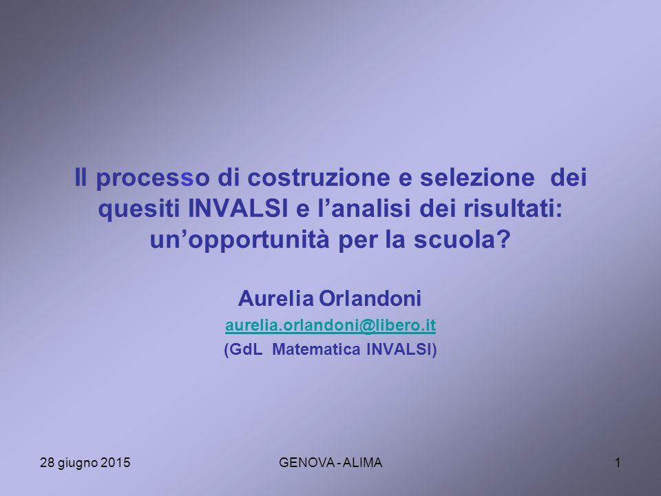 Aurelia Orlandoni aurelia.orlandoni@libero.it (GdL Matematica INVALSI)
