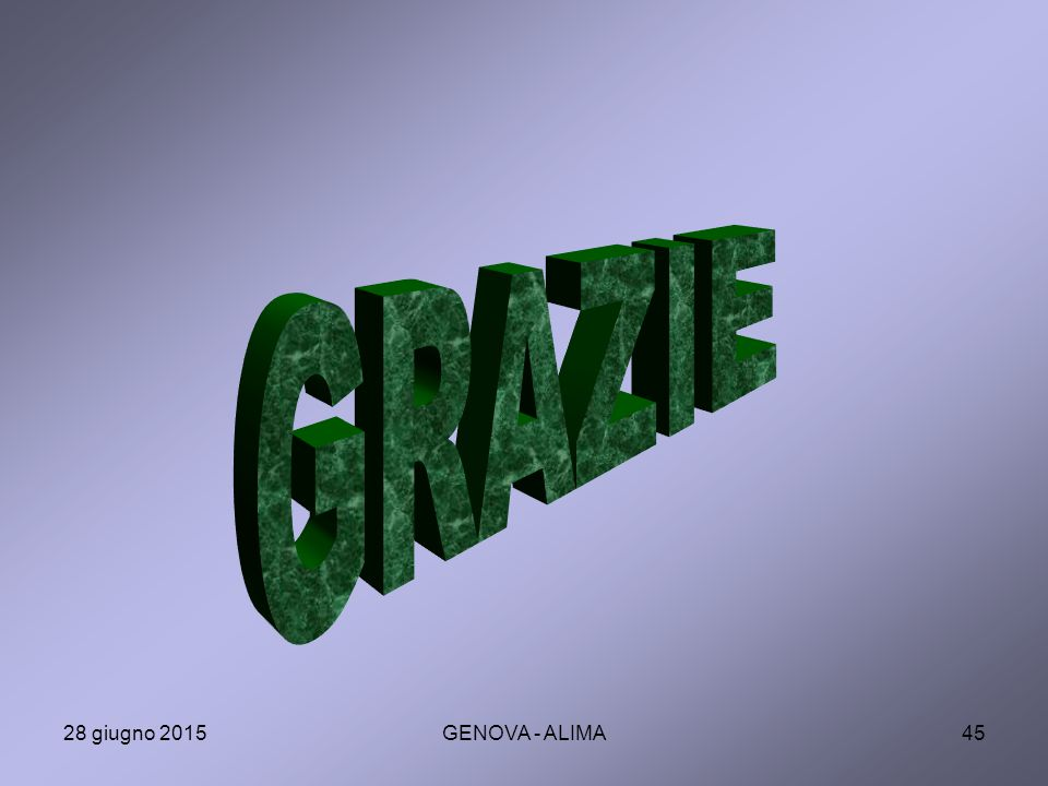 GRAZIE 17 aprile 2017 GENOVA - ALIMA