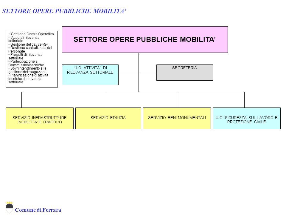 SETTORE OPERE PUBBLICHE MOBILITA'
