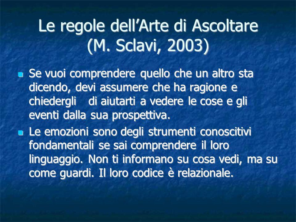 Le regole dell'Arte di Ascoltare (M. Sclavi, 2003)