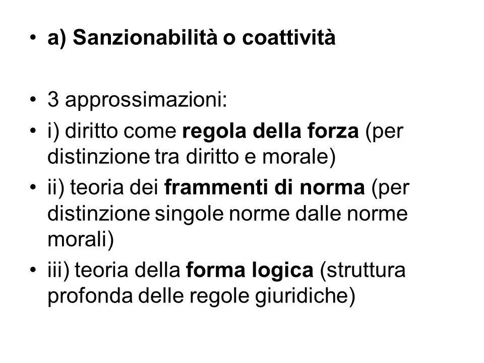 a) Sanzionabilità o coattività