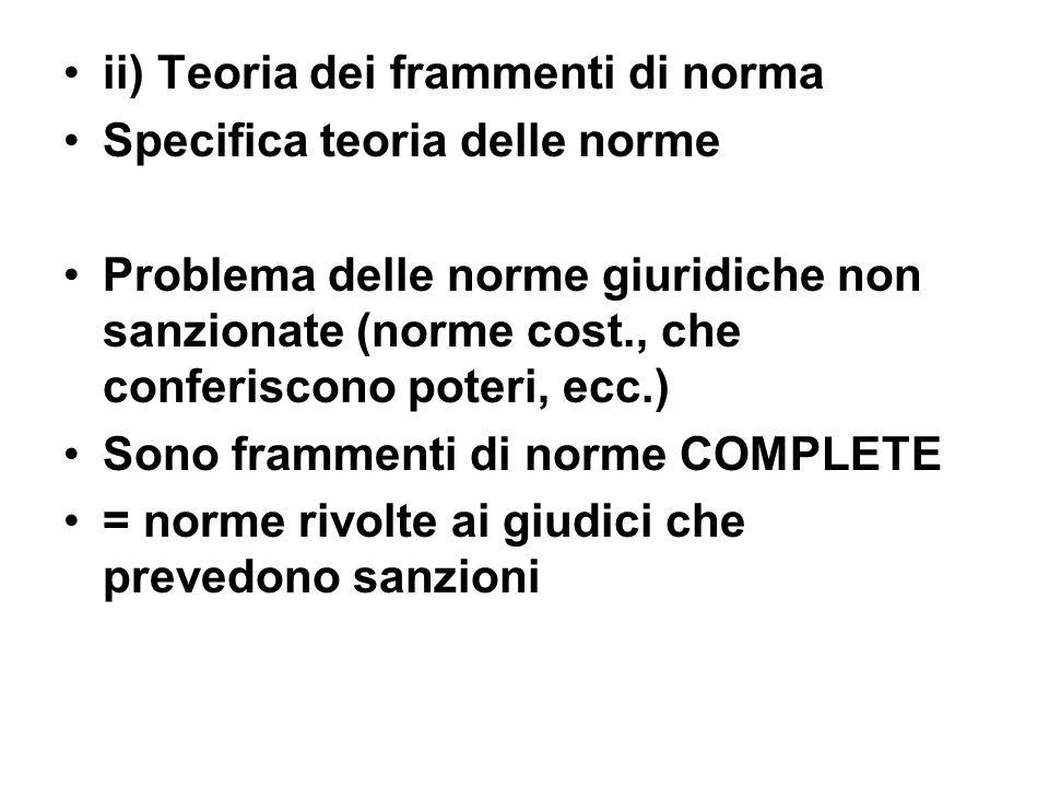 ii) Teoria dei frammenti di norma
