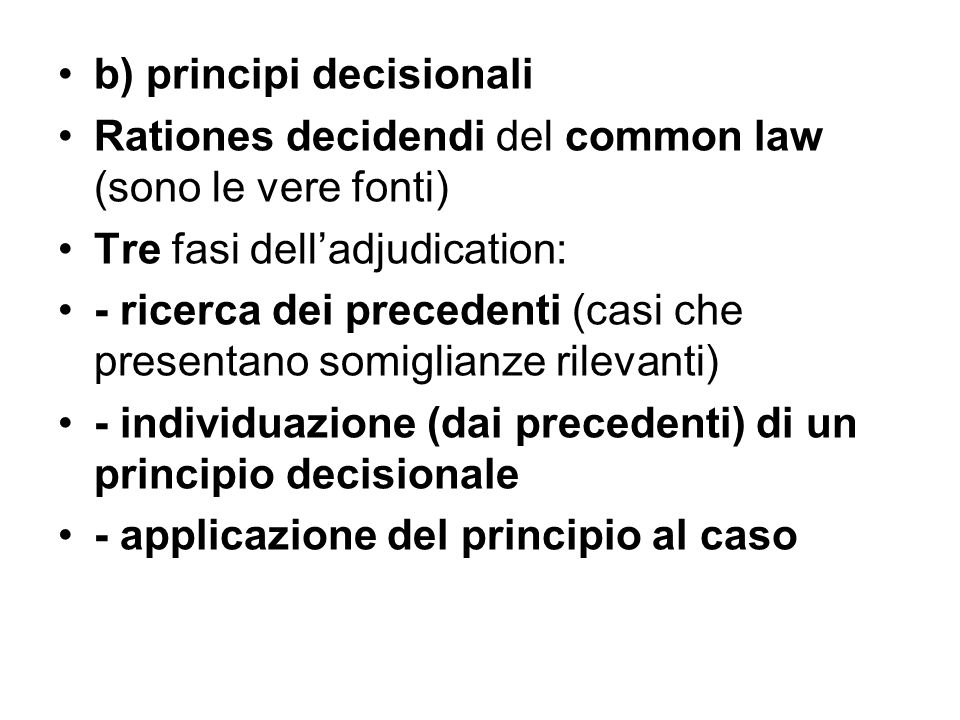 b) principi decisionali