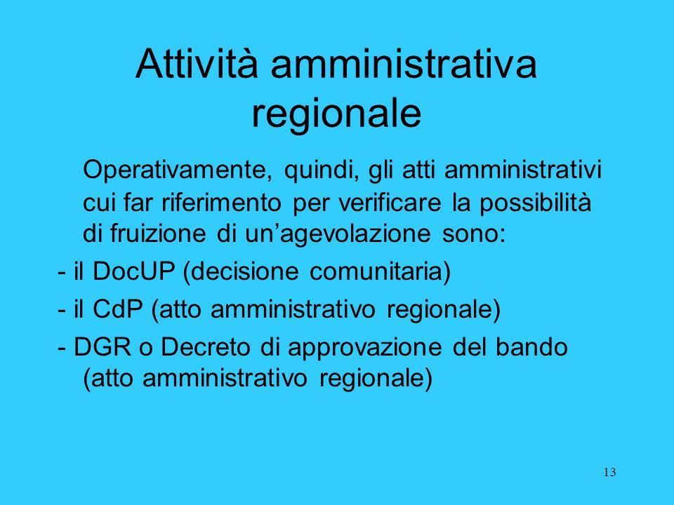 Attività amministrativa regionale