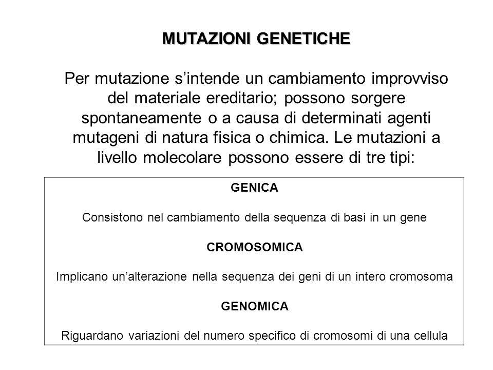 MUTAZIONI GENETICHE