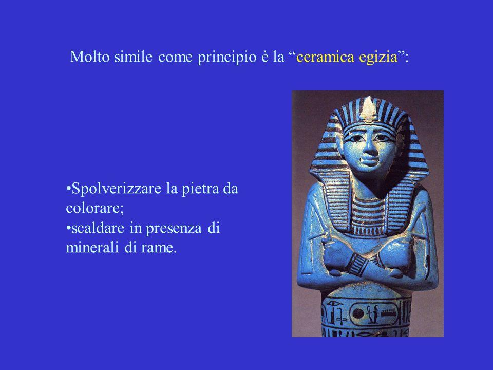 Molto simile come principio è la ceramica egizia :