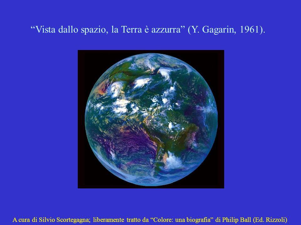 Vista dallo spazio, la Terra è azzurra (Y. Gagarin, 1961).