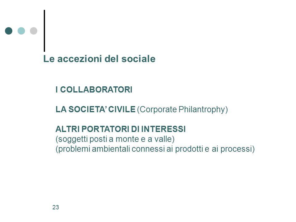 Le accezioni del sociale