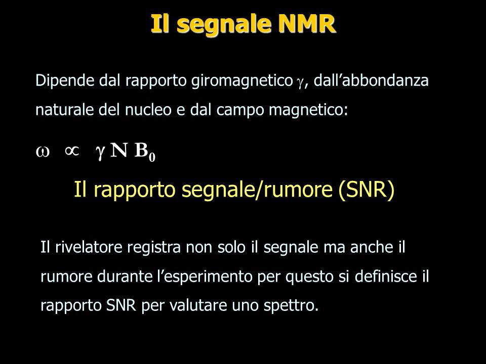 Il rapporto segnale/rumore (SNR)