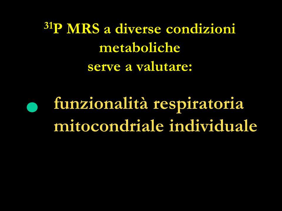 31P MRS a diverse condizioni metaboliche