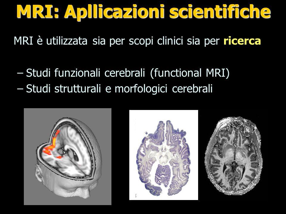 MRI: Apllicazioni scientifiche
