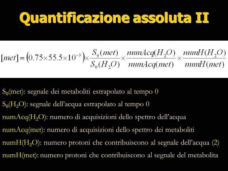 Quantificazione assoluta II