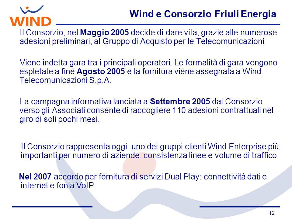 Wind e Consorzio Friuli Energia
