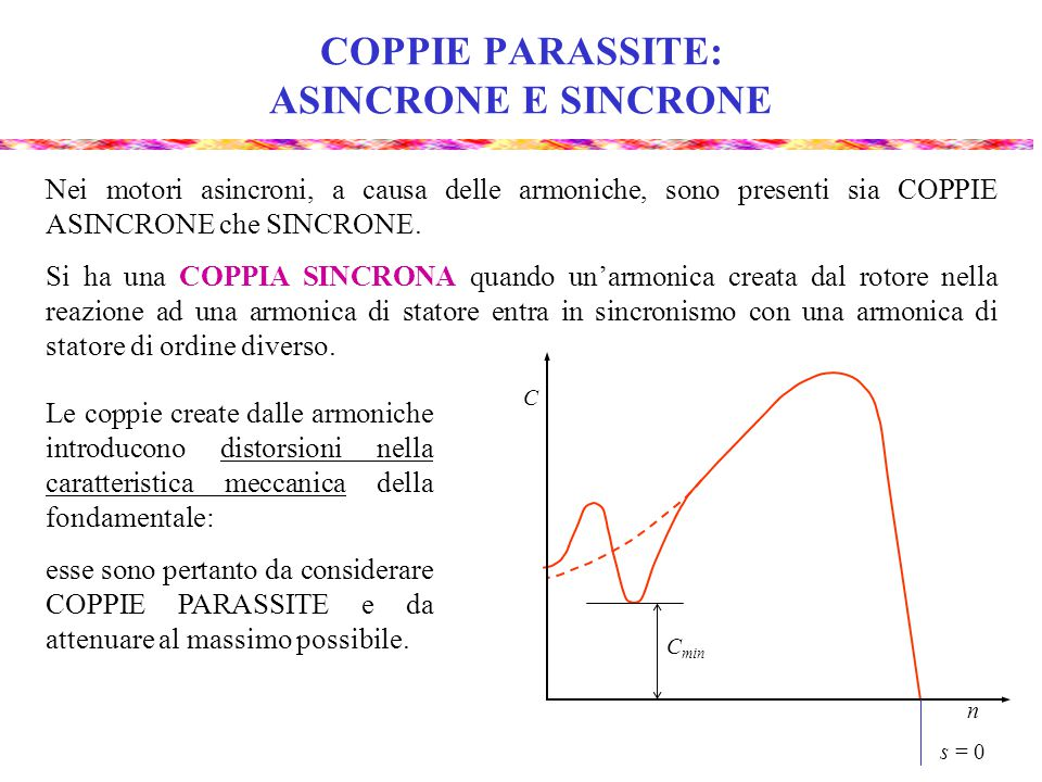 COPPIE PARASSITE: ASINCRONE E SINCRONE