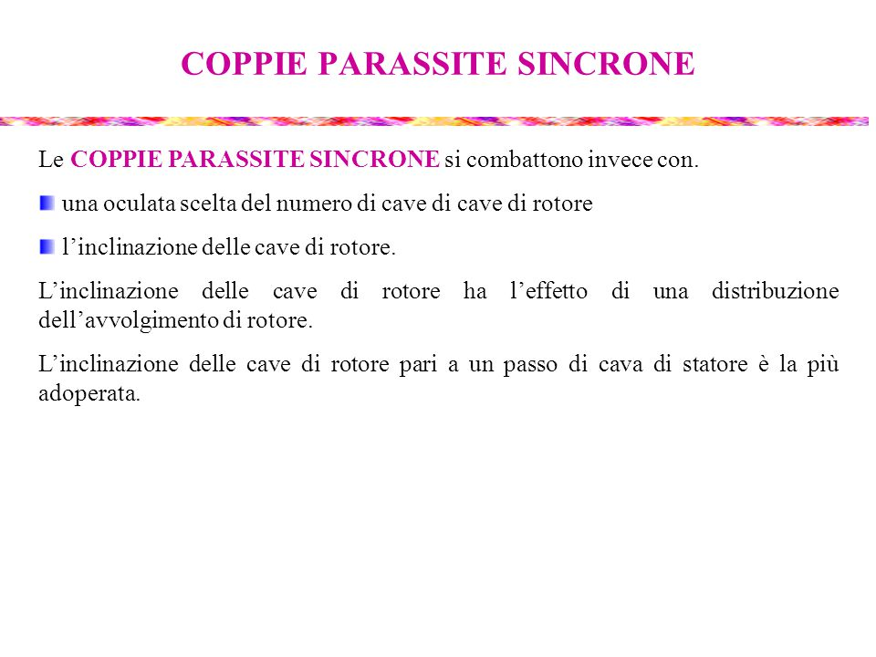 COPPIE PARASSITE SINCRONE