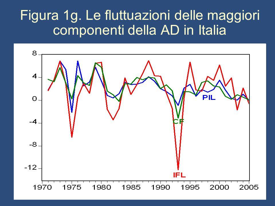Figura 1g. Le fluttuazioni delle maggiori componenti della AD in Italia