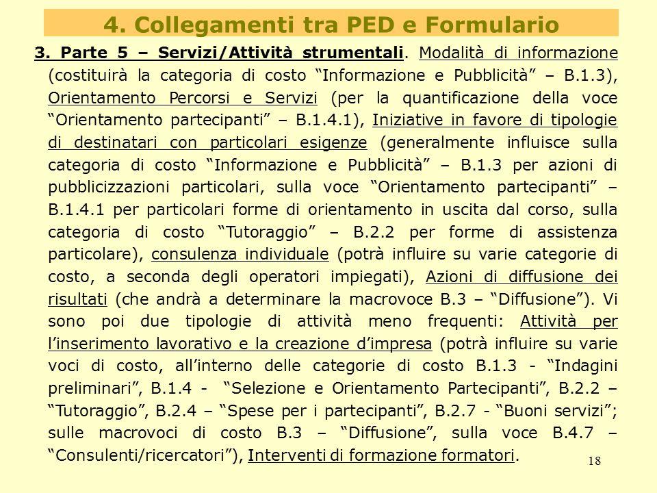4. Collegamenti tra PED e Formulario