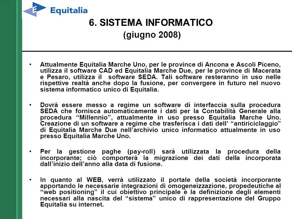 6. SISTEMA INFORMATICO (giugno 2008)