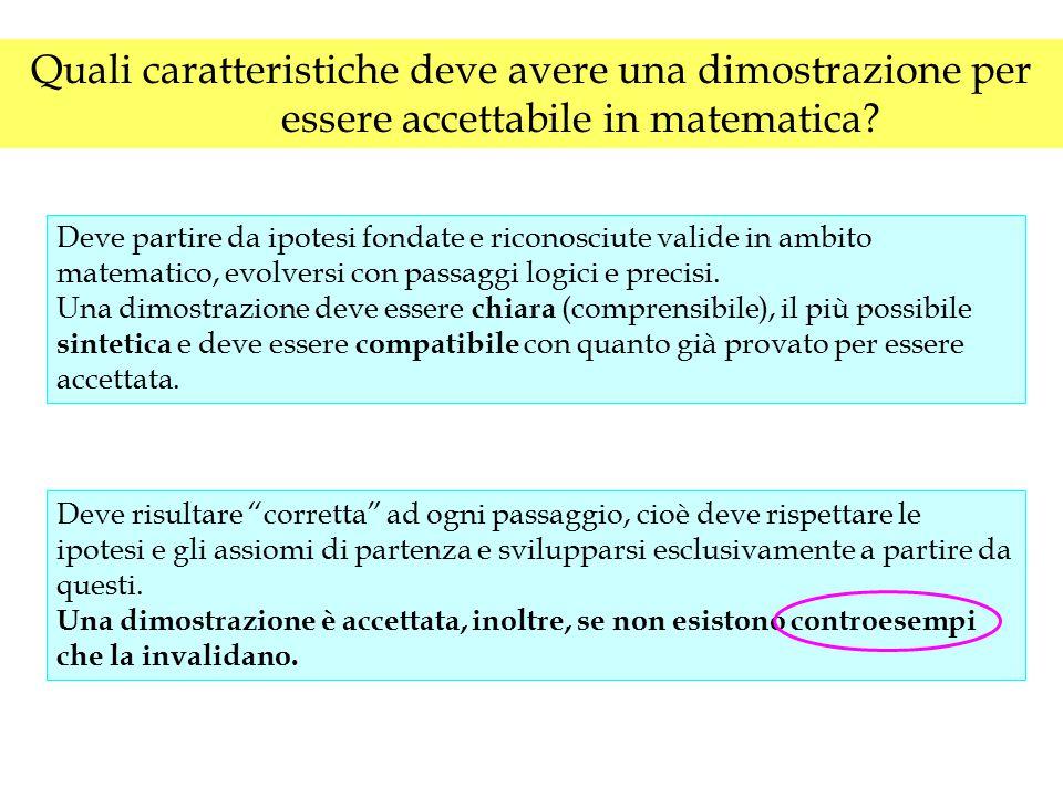 Quali caratteristiche deve avere una dimostrazione per essere accettabile in matematica