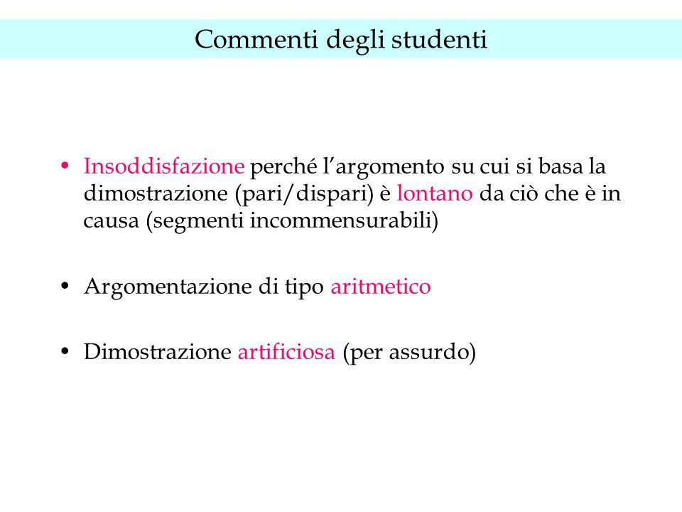 Commenti degli studenti