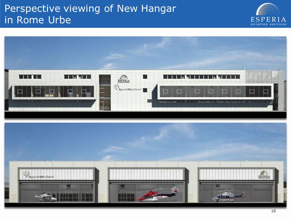 Perspective viewing of New Hangar in Rome Urbe