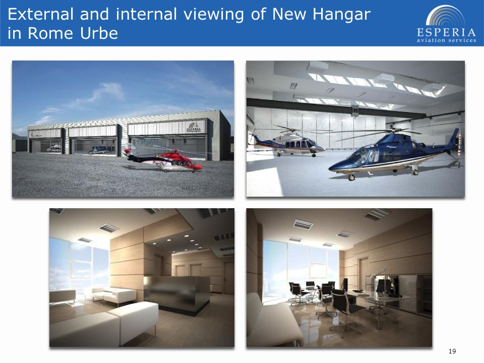External and internal viewing of New Hangar in Rome Urbe