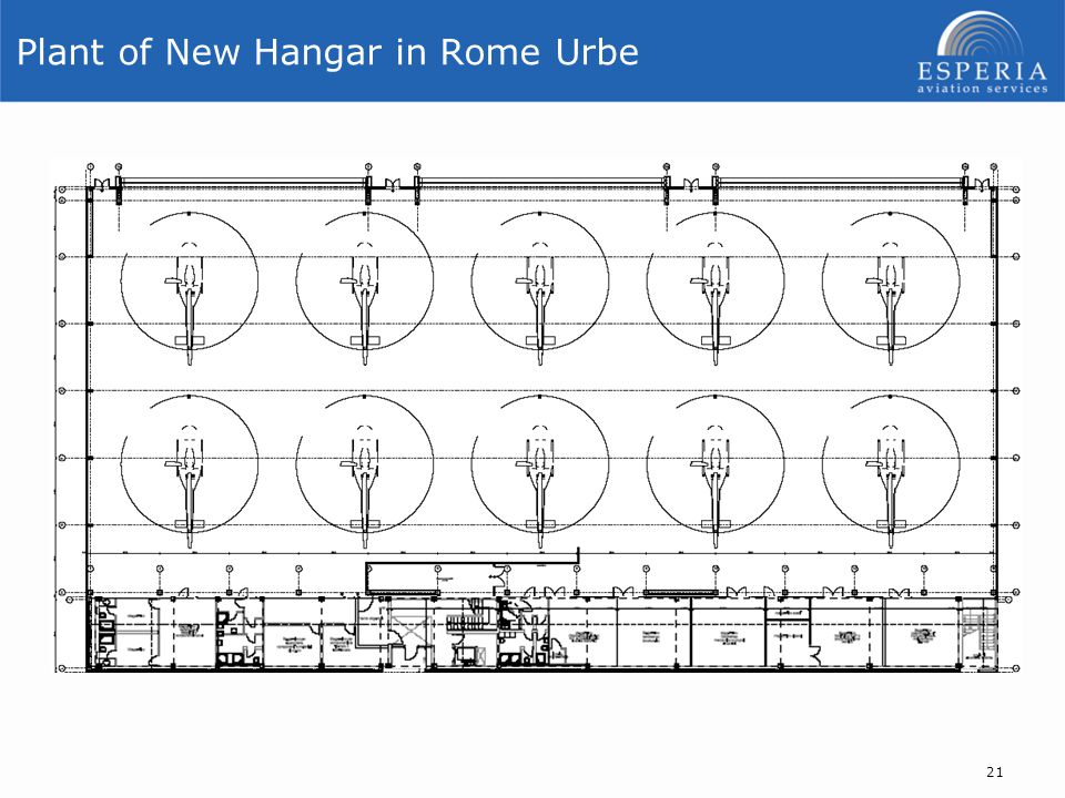 Plant of New Hangar in Rome Urbe