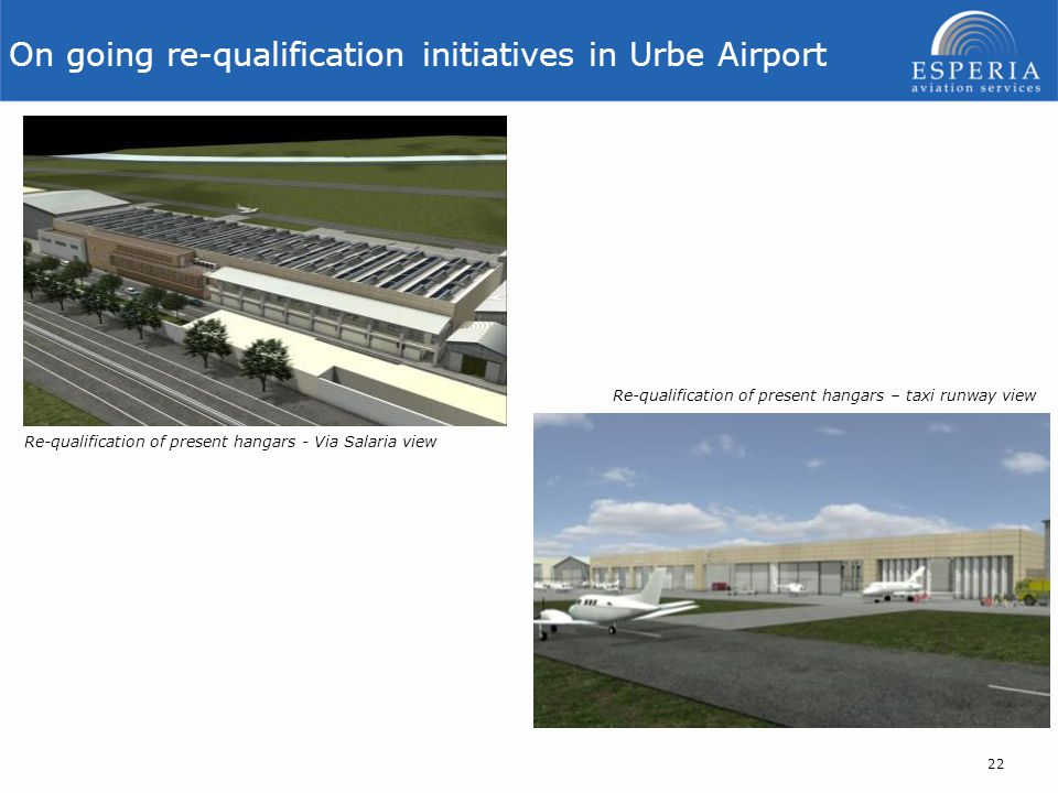 On going re-qualification initiatives in Urbe Airport