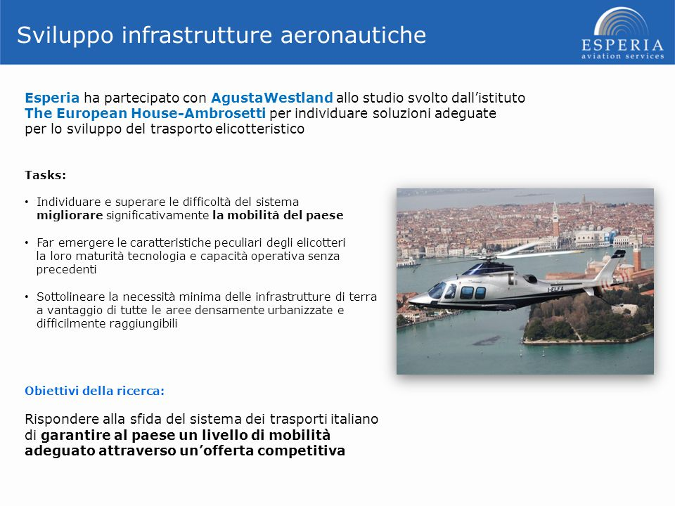 Sviluppo infrastrutture aeronautiche