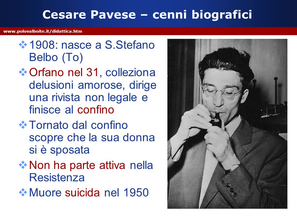 Cesare Pavese – cenni biografici