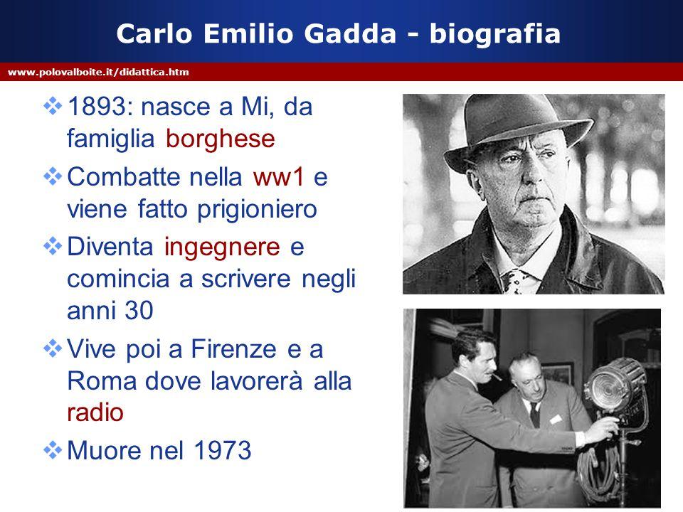 Carlo Emilio Gadda - biografia