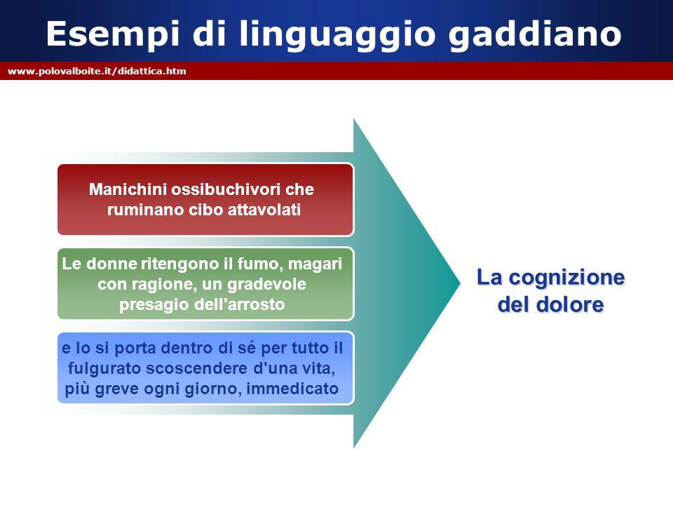 Esempi di linguaggio gaddiano