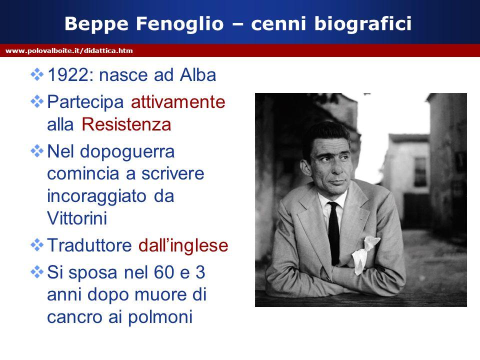Beppe Fenoglio – cenni biografici