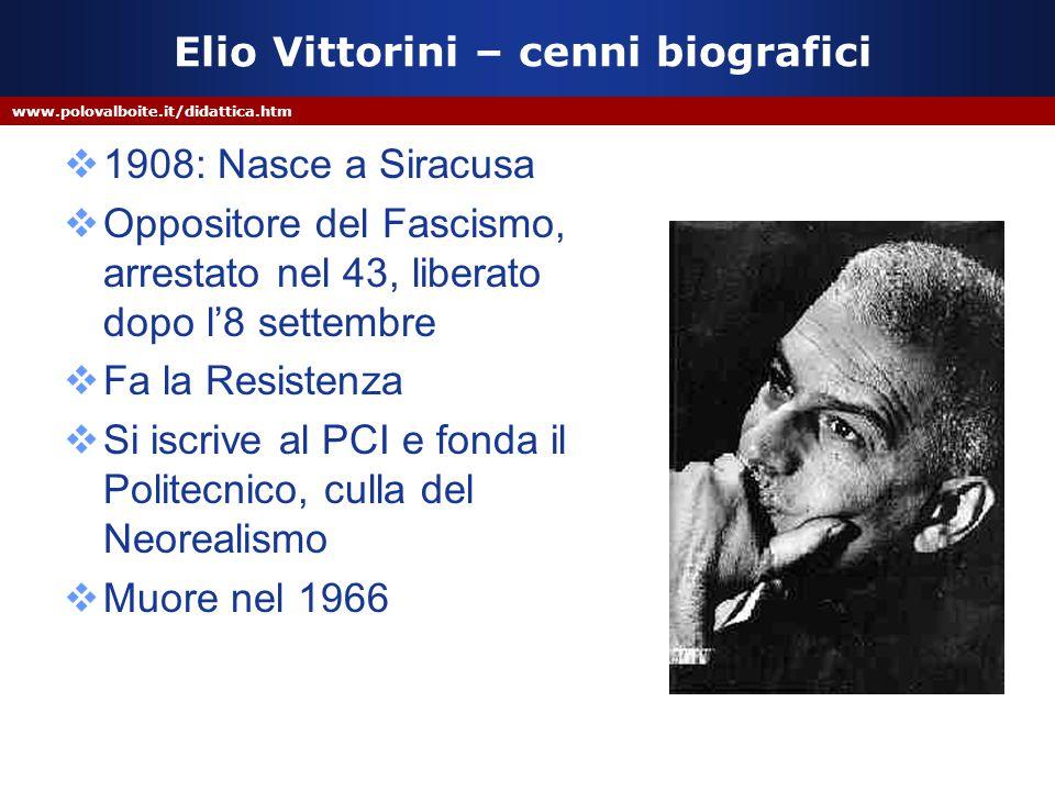 Elio Vittorini – cenni biografici