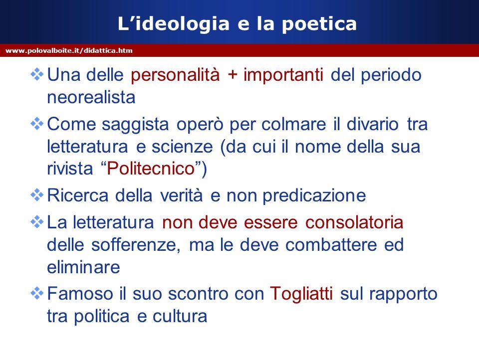 L'ideologia e la poetica