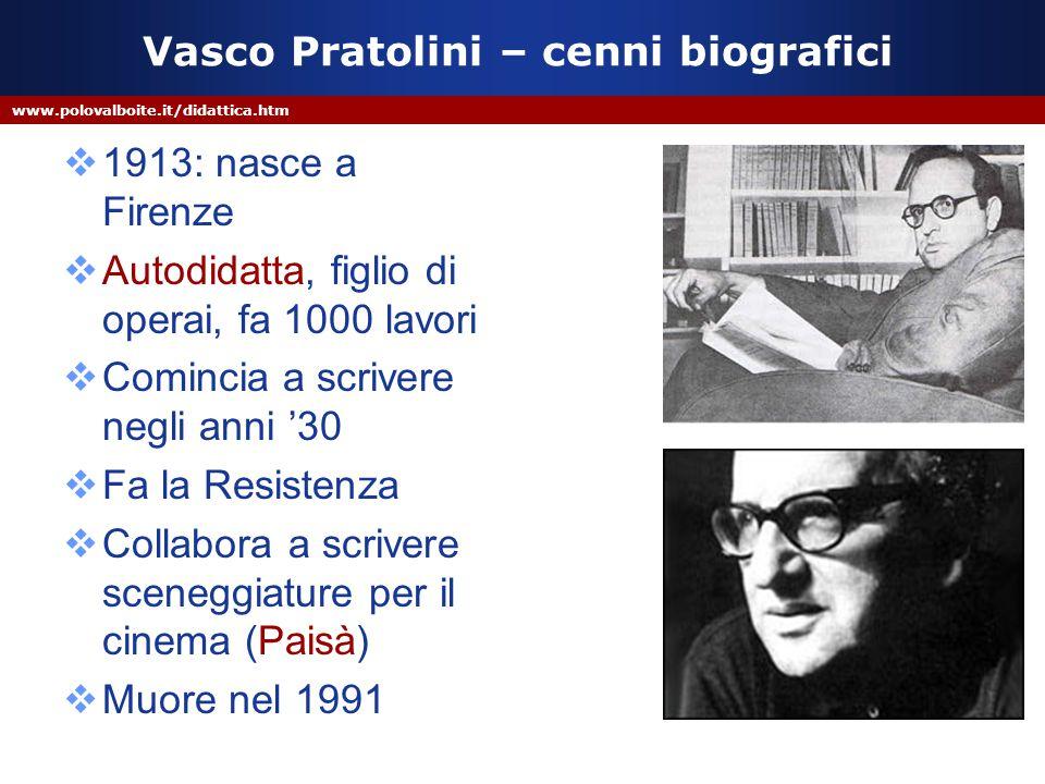 Vasco Pratolini – cenni biografici